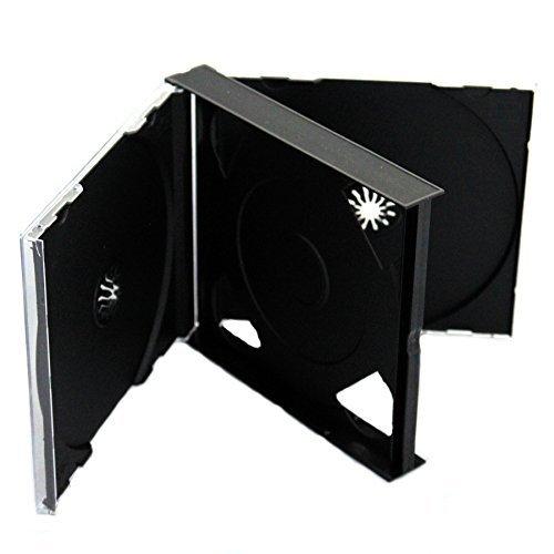 CD DVD 3Wege Jewel Cases 25mm für 3Disc mit schwarzem Tray 10/Pack von Dragon Trading®