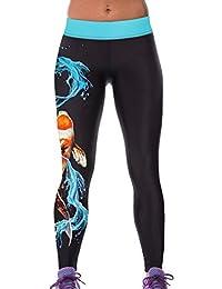 Lovelife' Women Water waves Cyprinoid Printed Yoga Workout Capri Leggings