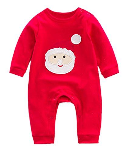 Babao Neugeborenes Baby Weihnachten Pyjamas Sets Weihnachten Baby Deer Pyjamas Overall
