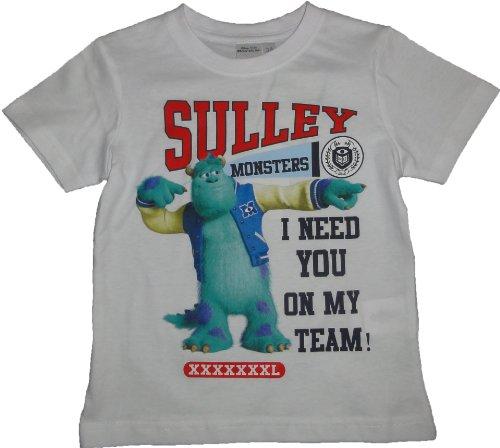 Uni Sully T-Shirt Weiß Grösse 98 (Monster Inc T Shirts)