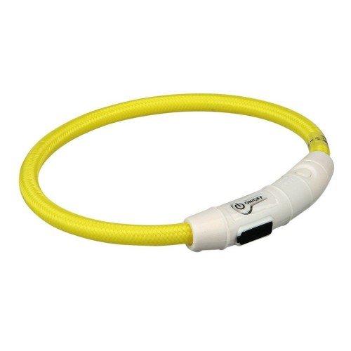 Trixie Anello Luce Flash USB M-L (45cm/Diametro 7mm) Giallo