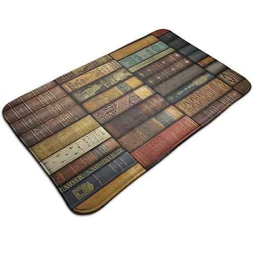 pipaxing tappetino da bagno assorbente antiscivolo tappeto da doccia per interni da interno soggiorno sala da pranzo cucina patio ingresso tappetino libri vintage, 40x60cm