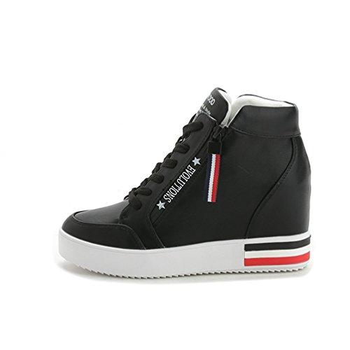 High Top Damen Sneakers Freizeit Schuhe Schwarz