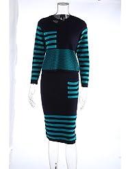 Erica Normal Pullover Femme Travail Vacances Mignon Chinoiserie,Couleur Pleine Multi-couleur Col Arrondi Manches Longues CotonPrintemps