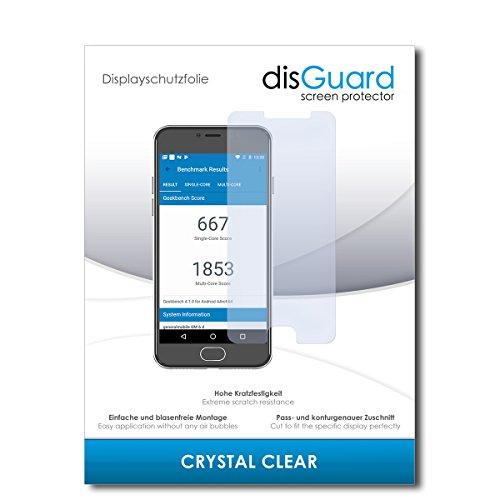 disGuard® Bildschirmschutzfolie [Crystal Clear] kompatibel mit General Mobile GM 6 [2 Stück] Kristallklar, Transparent, Unsichtbar, Extrem Kratzfest, Anti-Fingerabdruck - Panzerglas Folie, Schutzfolie