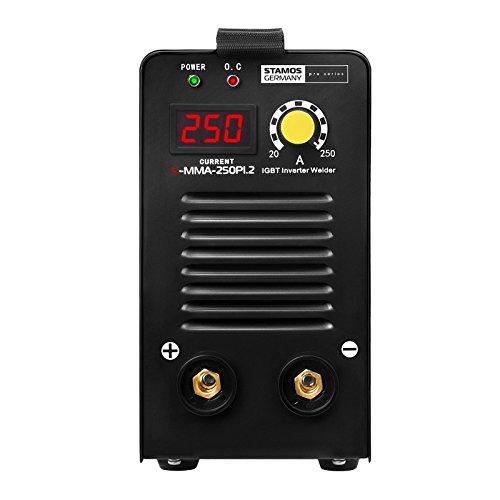 Schweißgerät Inverter Schweißgerät Elektroden E-Hand MMA (250 A, 8 Meter Schlauchpaket, Hot Start, Display LED, IGBT, Einschaltdauer 60%, inkl. Zubehör) Stamos Germany - 3