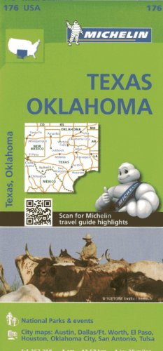 Michelin Texas, Oklahoma Map (Michelin USA, Band 176) -