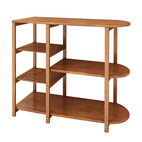 GYP Estantes de cocinaEstante de microondasEstantes de madera maciza de cocinaEstantes de almacenamiento ( Tamaño : 100*37*85CM )
