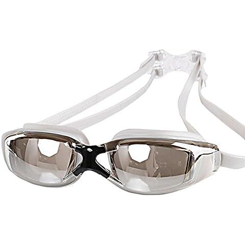 Lentes de electrochapado al aire libre de los vidrios gris antiniebla gafas de natación