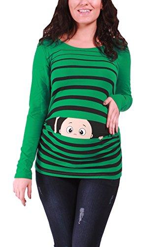Divertente dolce push moda T-shirt con motivo Schwa borraccia codolo regalo - maglia a maniche lunghe Verde scuro