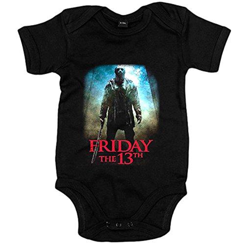 Body bebé Viernes 13 película - Negro, 12-18 meses