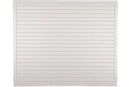 Sichtschutzzaun Kunststoff weiß 180 x 150 cm (Serie Juist)