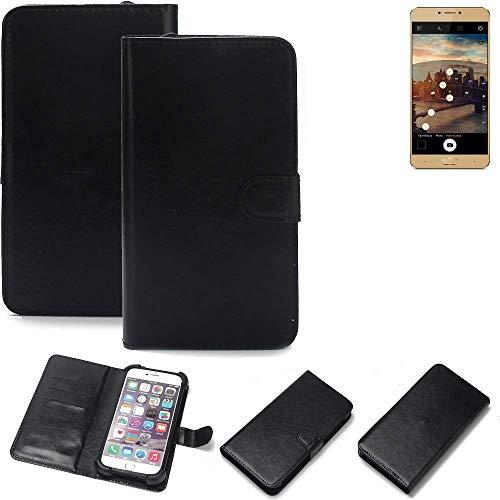 K-S-Trade® Wallet Case Handyhülle Für Allview X3 Soul Plus Schutz Hülle Smartphone Flip Cover Flipstyle Tasche Schutzhülle Flipcover Slim Bumper Schwarz, 1x