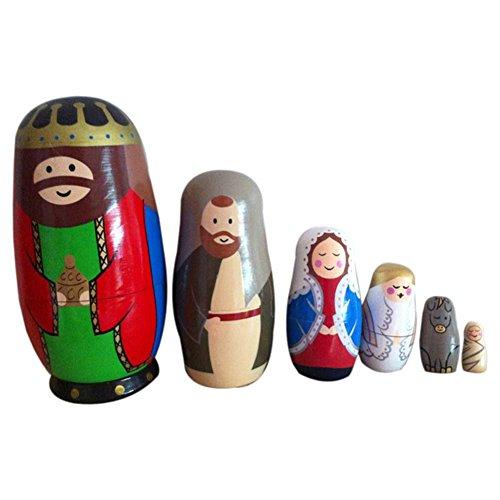 Domeilleur Neue Baby-Spielzeug aus Holz Matryoshka Nesting Dolls Set Russische Puppen Handgemalte Home Decoration Geburtstags-Geschenke