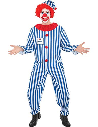 Adult circus clown cheap value party outfit fancy dress costume extra large