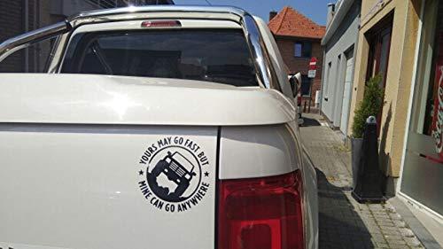 Color : White WILRND-Home Europa e Stati Uniti 4X4MINECANGOANYWHERE Adesivi per Auto Riflettenti per Veicoli Fuoristrada