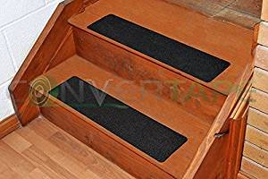 Anti-Rutsch Stufenmatte Treppenstufe 600mm x 150mm in schwarz