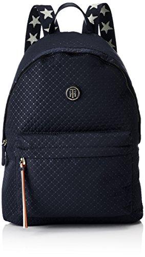 Tommy Hilfiger Damen Poppy Backpack Quilted Argyle Rucksackhandtasche, Blau (Quilted Tommy Navy), 13 x 40 x 30 cm
