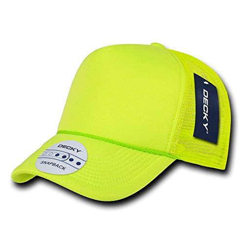 Decky 221 Solid Color Neon Foam Trucker Caps