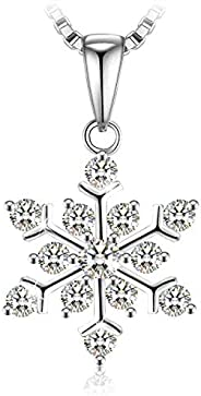 Swarovski Elements Crystal 925 Sterling Silver Pendant Necklace for Female Women Ladies Girls Gift JRosee Jewe
