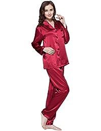 LILYSILK Pijamas Mujer De Seda Estilo Clásico 100% Seda De Mora Natural De 16 Momme