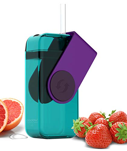 Asobu Juicy Drink Box Die ultimative unzerbrechliche wiederverwendbare 283,5Wasser Flasche für Kinder (Freezable Flasche Wasser)