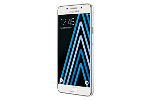 Samsung Galaxy A3  2016  SM-A310F 4G 16GB Blanco - Smartphone  11 9 cm  4 7    1 5 GB  16 GB  13 MP  Android  Blanco