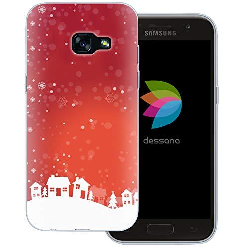 dessana Weihnachten Pattern transparente Schutzhülle Handy Case Cover Tasche für Samsung Galaxy A3 (2017) Weihnachtsdorf