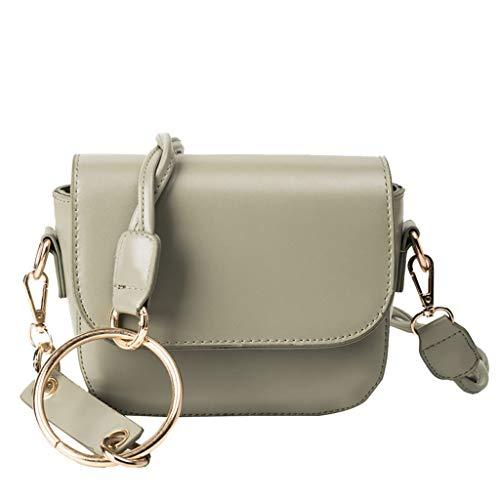 XZDCDJ Crossbody Tasche Damen UmhängeTaschen Daypacks Damenmode Big Ring Wild Slant Bag Einzelner Schulterbeutel Geldbeutel Kuriertasche (Kostüm Ringe Mit Stretch Bands)