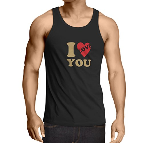 lepni.me Weste Ich Liebe Dich! - St. Valentinstag-Outfit, tolle Geschenkideen (XXXXX-Large Schwarz Gold) (Für Einfache Paare Halloween-kostüme Kreative,)