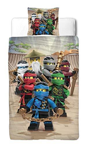 Ninjago Jungen Bettwäsche Set · Kinderbettwäsche · Lego Motiv BE COOL · 2 teilig · Kissenbezug 80x80 + Bettbezug 135x200 cm · 100{886607732cd3087e249bd510547c39581ddaf5f12ab171b0b29a86f9cafc83ce} Baumwolle in Glatter Renforce Qualität - deutsche Standard Größe