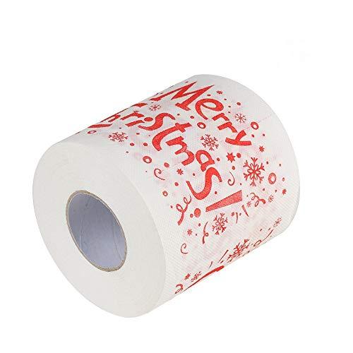 Alwayswin Weihnachtsmuster Toilettenpapier 170 Blatt, 3 Schichten, Weihnachtlich Bedrucktes Toilettenpapier Bedrucktes Rollenpapier Weihnachtsdekor Gewebe