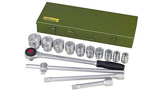 """Proxxon 23300 Steckschlüsselsatz 22-50 mm Antrieb 20 mm (3/4\"""") 15-teilig in Stahlbox"""