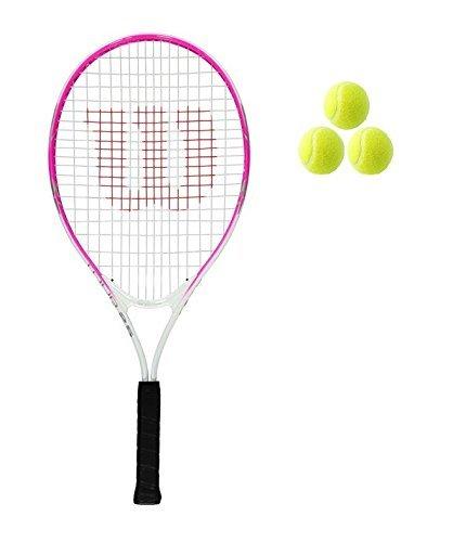 """Wilson Tour Junior 19,21,23,25 Raqueta De Tenis + 3 Bolas Rosa/Rojo Niña/Niño - 25\"""" Pink"""