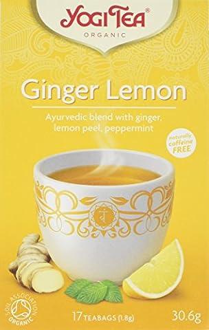 Yogi Tea Ginger Lemon Teabags, Pack of 6, 102-Count