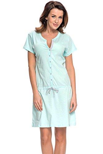 Dn-Nightwear TM.5041 Douce Et Confortable Chemise De Nuit De Maternité - Fabriqué En UE mynthe