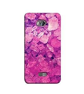 Fuson Pink Stones theme Designer Back Case Cover forMicromax Bolt Q336-3DQ-1169