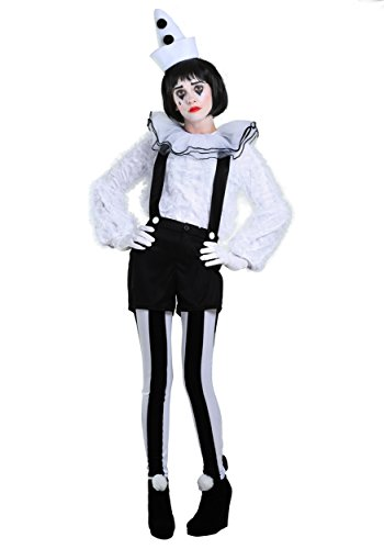 Kostüm Vintage Clown - Vintage Pierrot Clown Damen Kostüm - S