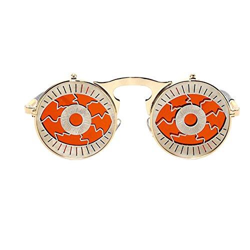 Meijunter Metall-Flip-Up-Objektiv Sonnenbrille Fashion Retro Runde Sonnenbrille