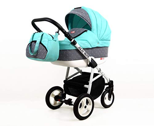 *Kinderwagen BABYLUX ALU WAY MINZE, 3 in 1- Set Wanne Buggy Babyschale,Muffe*