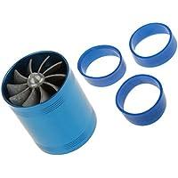 Ventilateur Turbo à Double Turbine Carburant De Filtre à Air 65mm