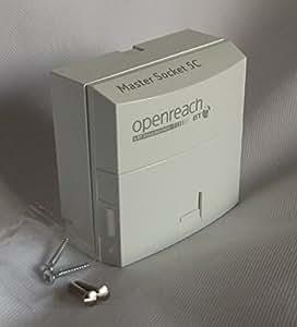 NTE5c MK2 (replaces NTE5a) Master Socket - Pressac - Latest BT/Openreach Version - Bell Wire Filter - Clear Cam Lock IDC + BackBox + 2 M3.5 machine screws.