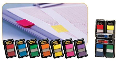 3M Post-it - Marcapáginas autodhesivos con dispensador (50 unidades cada uno, 25 mm), color rosa