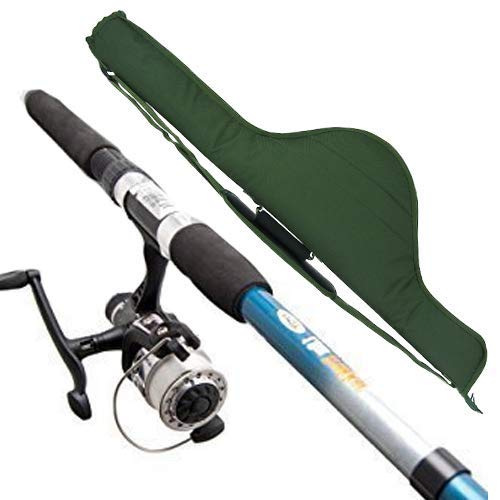 NGT Fishing Travel 2.4m 8ft Rod And Reel Deal With Holdall Bag Ideal For a Holiday kit