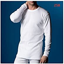 Abanderado - Abanderado Camiseta Interior Hombre Blanca Termal Manga Larga 100% Algodón