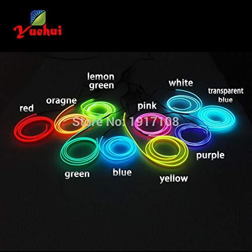 Preisvergleich Produktbild Tyro DC-12 V 1 / 2 / 3 / 4 / 5 Meter 10 Farben zur Auswahl Auto Innenbeleuchtung Party Dekorative Flexible LED Neon Licht 2, 3 mm Schürze EL Drahtseil Tube