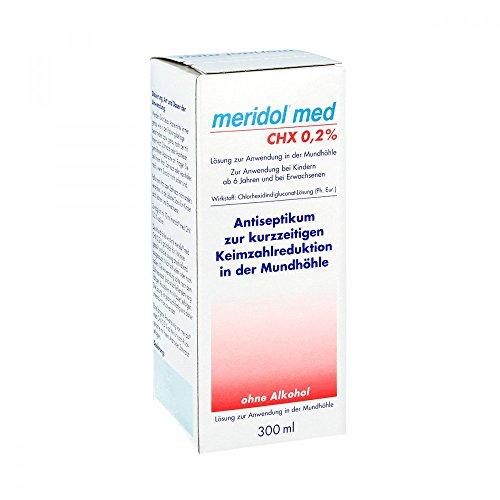 Meridol med CHX 0,2{643b4ea26fbf7bc988aeb2b1a40c9bc9f6cd99f0389b7c8eea2eb1a072794936} Lösu 300 ml