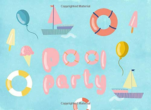Pool Party: Guest Book: For parties, birthdays, themed baby showers and celebrations | Fun watercolor design | 250 guests and their messages