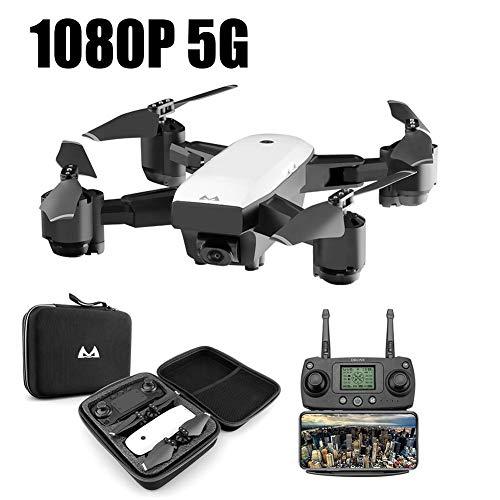 RC Drone Quadcopter, RC Quadricottero 2.4 GHz 1080 P 120 ° Wide Angle HD 6 Axis Elicottero pieghevole Drone - Modalità senza testa, un pulsante di ritorno automatico, doppio posizionamento GPS