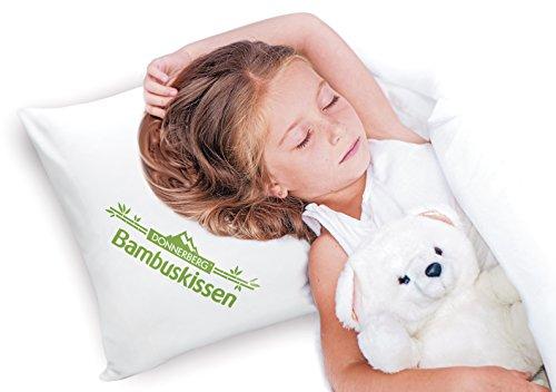 Oreiller à mémoire de forme Donnerberg ® Coussin en fibre de bambou – Idéal pour les cervicales – Marque allemande image 2